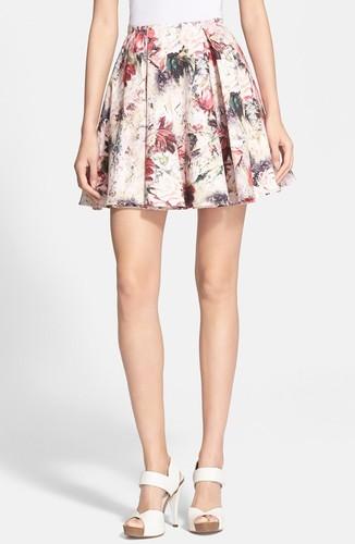 haute hippie floral skirt