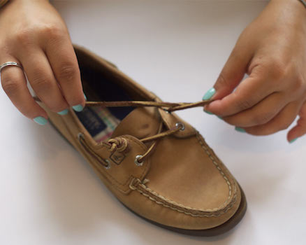 How To Put Back Shoe Laces
