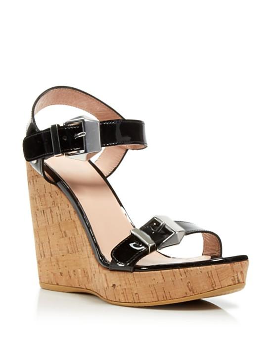 95014e7576a Stuart Weitzman Twomuch Cork Ankle Strap Platform Wedge Sandals