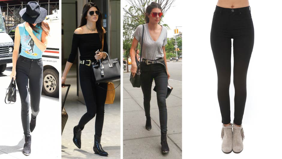 Kendall Jenner Black Skinny Jeans | Blank NYC High Rise Skinny Jeans