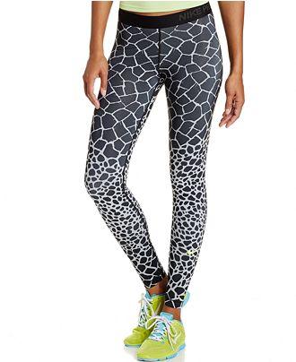 568ccd6d9e4e0 Khloe Kardashian Printed Leggings | Nike Pro Engineered Dri-Fit ...