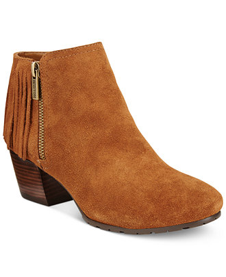 Kenneth Cole Reaction Pillates Fringe Booties