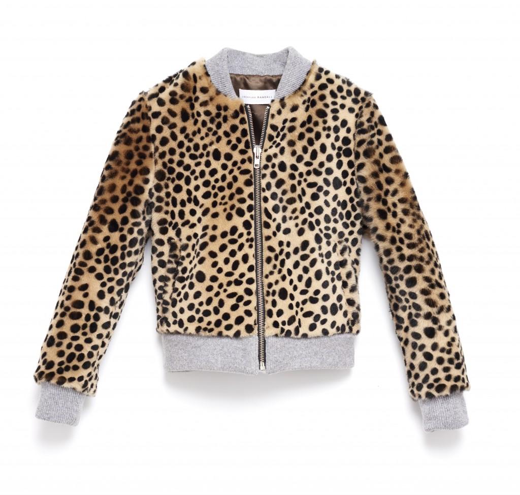 Cheetah Shearling Bomber Front