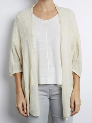 INHABIT Sheer Slub Cardi