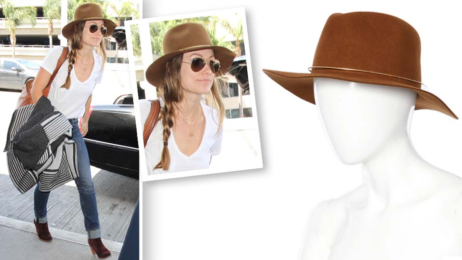 Snatch Up Olivia Wilde s Perfect-For-Fall Janessa Leone Hat While It s 20%  Off 55bea90635a0