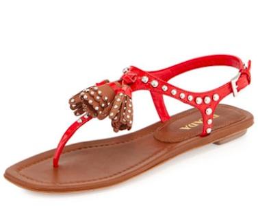Prada Tassel Sandals