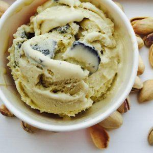 Pistachio black truffle ice cream.