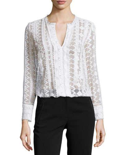 rebecca taylor white blouse
