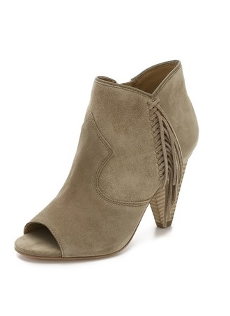 Belle by Sigerson Morrison Fume Fringe Suede Booties