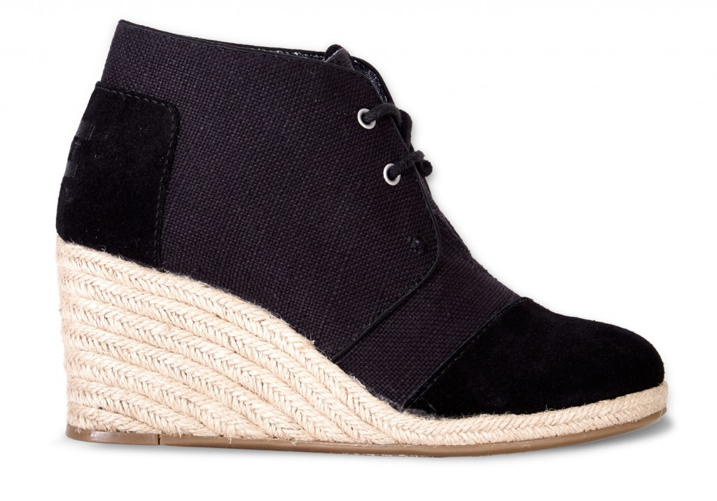 Toms Black Wedge