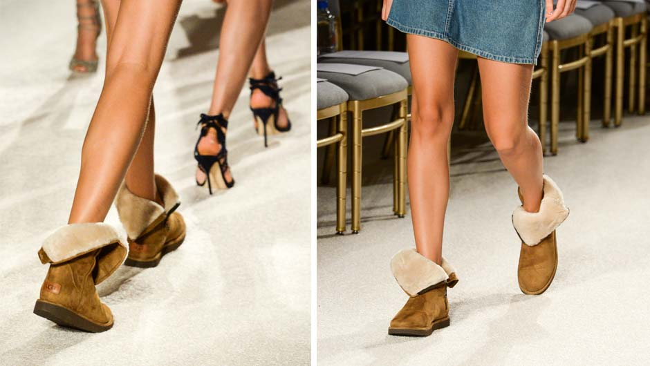 Get The UGG Boots From Backstage At The Marchesa NYFW Show