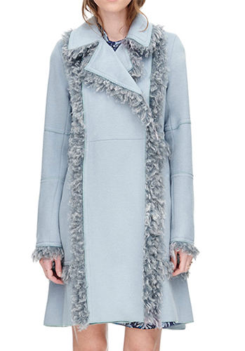 Melton Faux Fur Coat