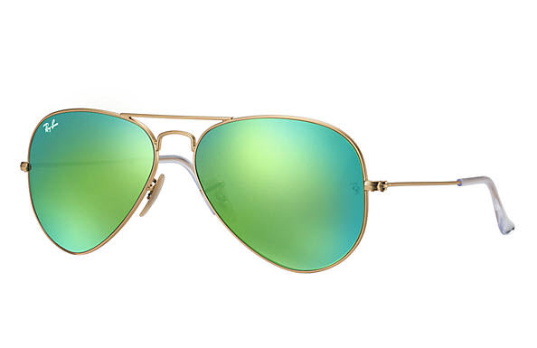 ray ban aviators flash blue gold
