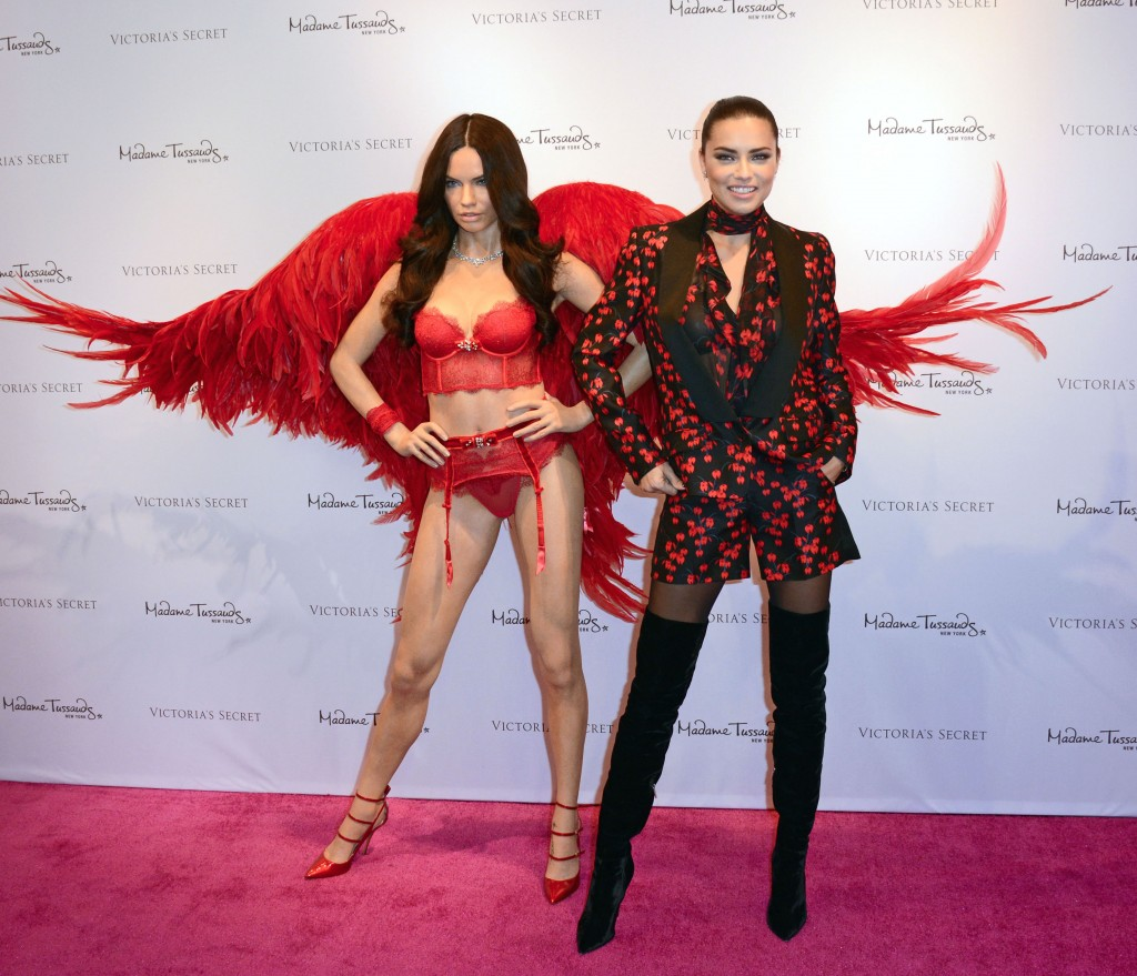 Adriana Lima wax figure by Madame Tussaud's unveiled at Victoria's Secret, Herald Square, NYC