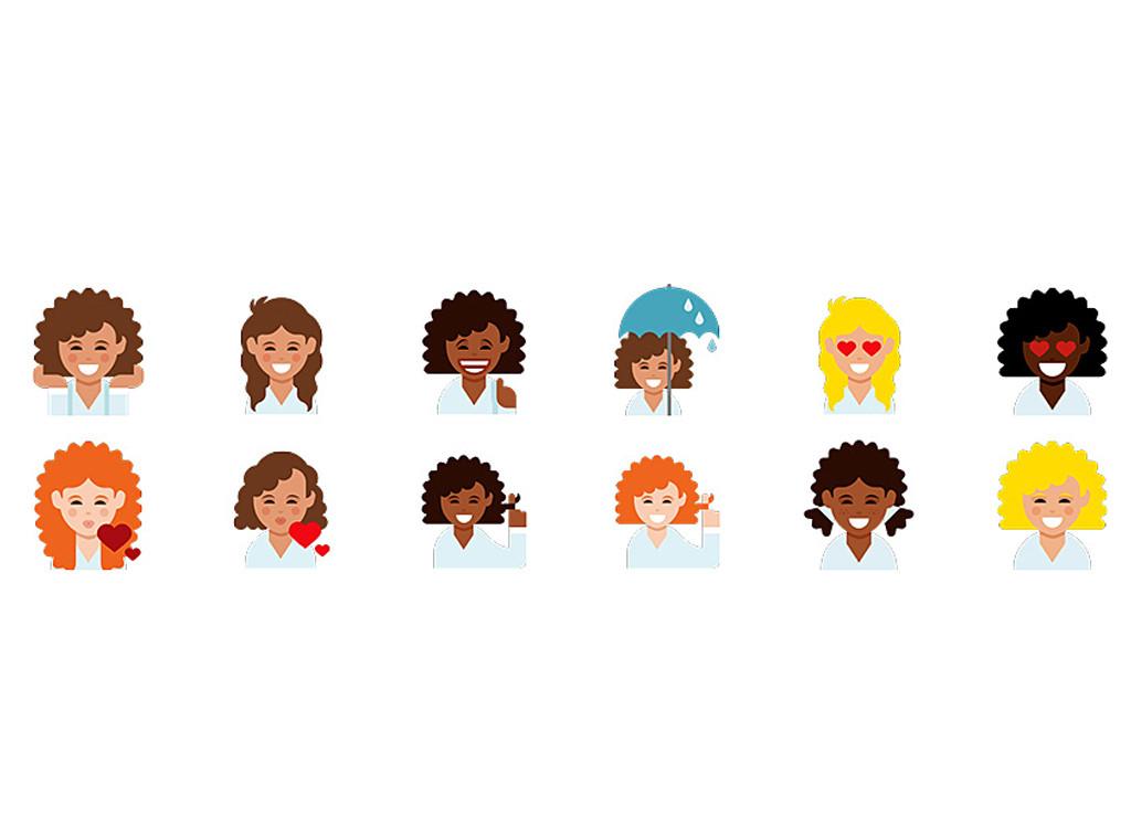 curly emojis