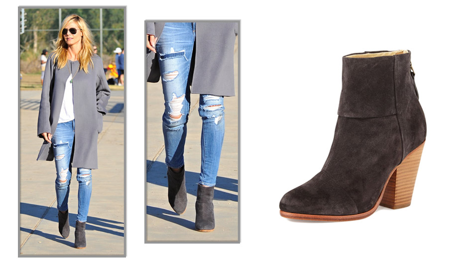 Heidi Klum Booties Rag Bone Classic Newbury Leather