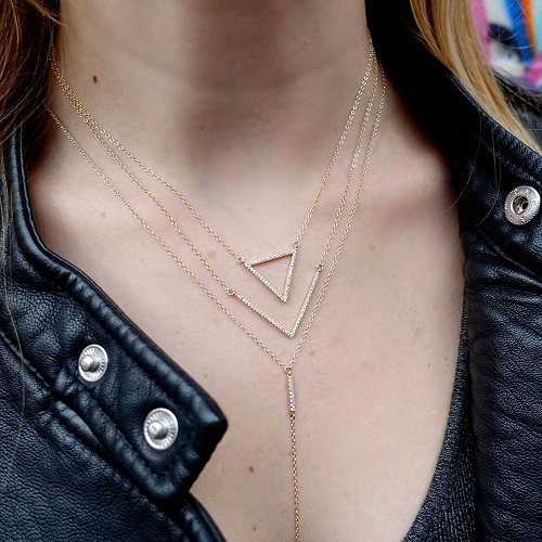 mined lariat necklace