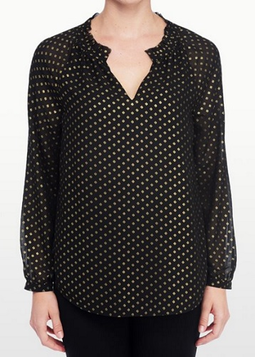 nydj foil dot blouse