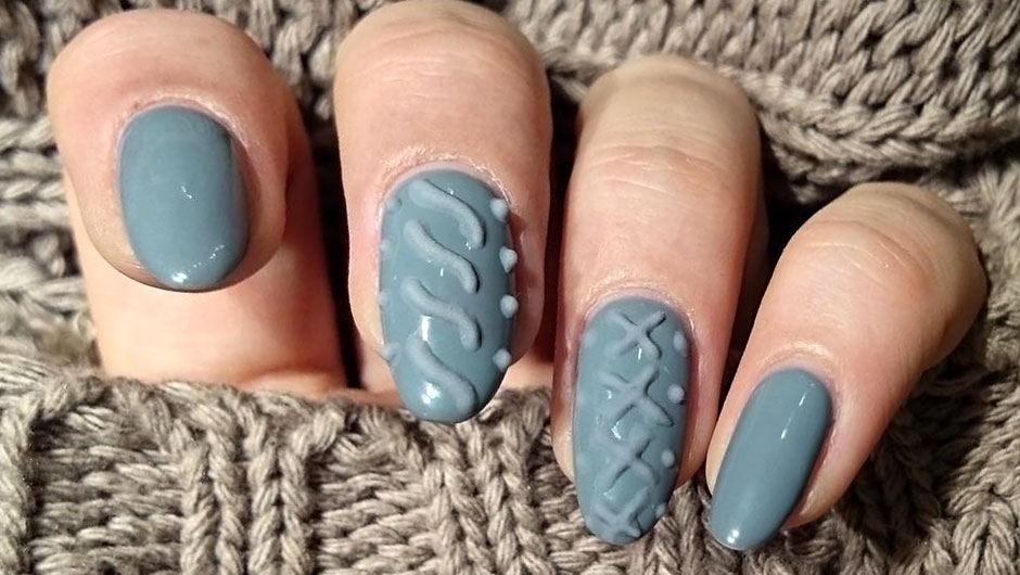 Sweater Nail Art | Sweater Nails | Nail Art Trends