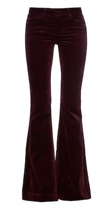 J Brand Flare velvet jeans