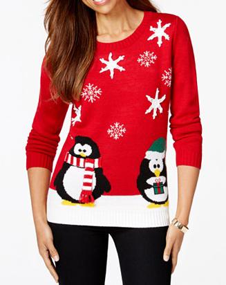 886c552c054 Karen Scott Petite Holiday Penguin Sweater (  29.99