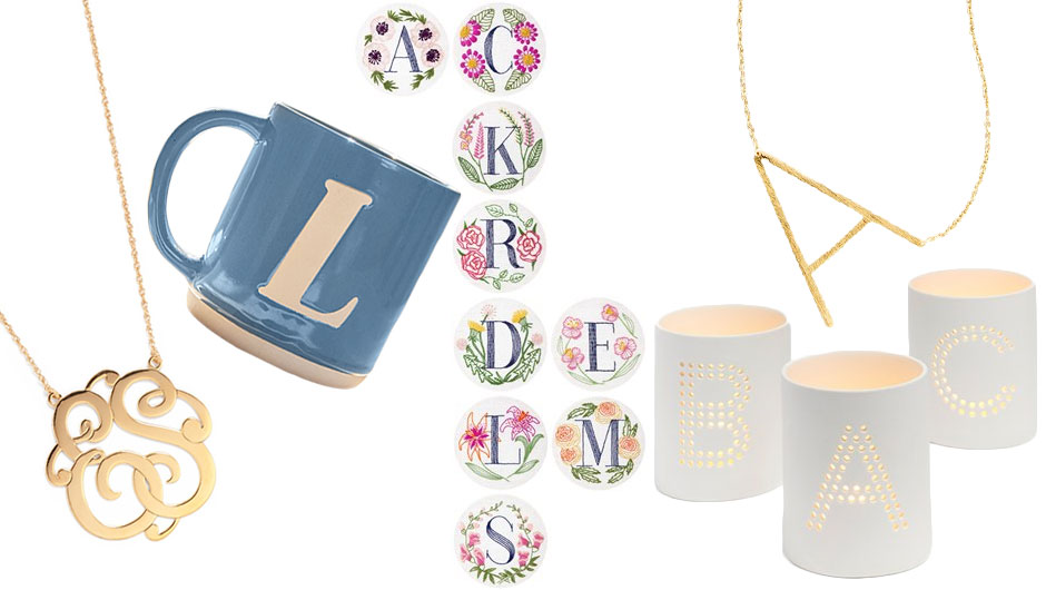 Monogrammed Gifts Are Always A Good Idea: Mugs, Jewelry, More