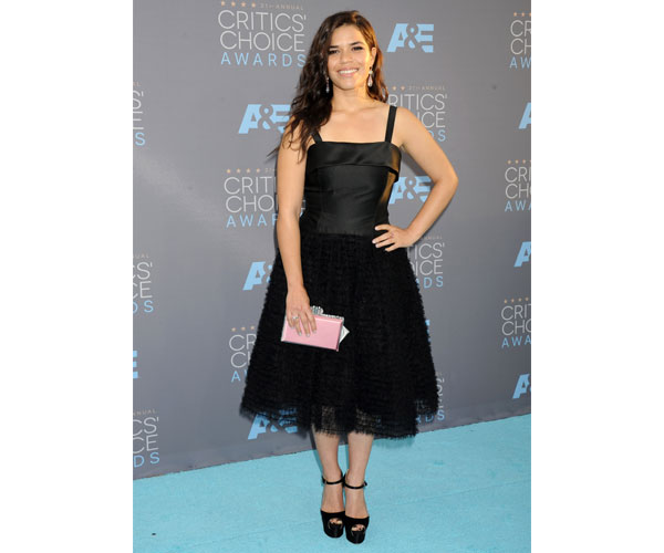 America Ferrera with this edgy and sophisticated look