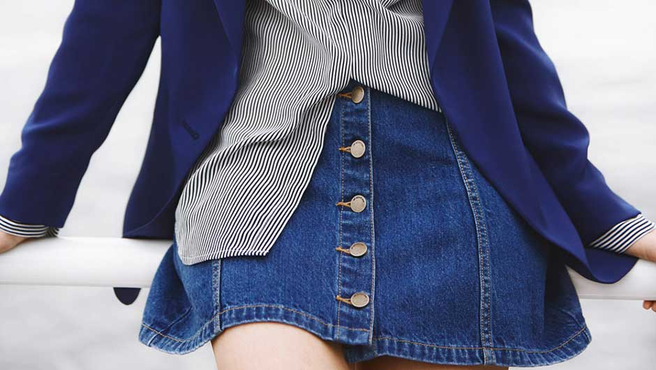 22 Dope Ways To Wear A Denim Skirt Because Yeah, They're Definitely Back