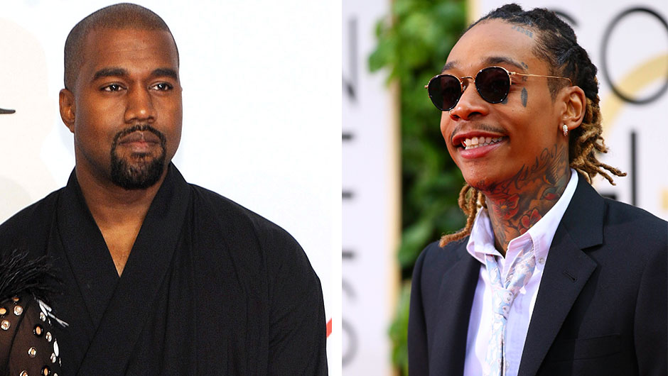 Kanye West and Wiz Khalifa Twitter Feud