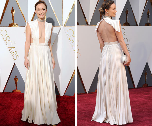 Olivia's Wilde's ivory Valentino Haute Couture gown