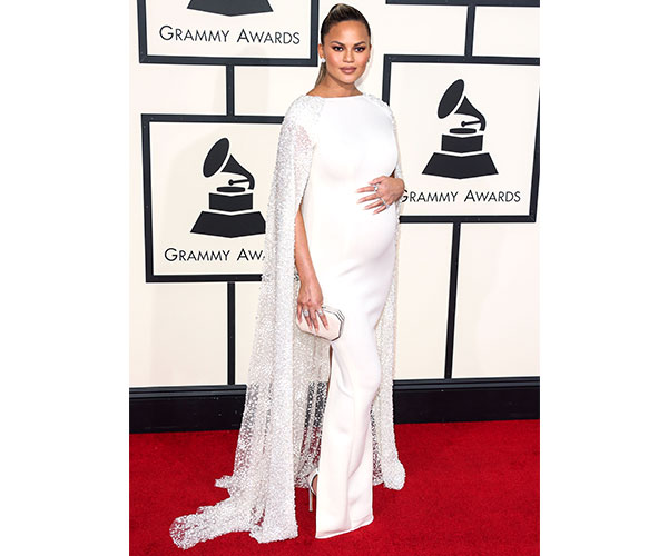 Chrissy Teigen in this white Yousef Al-Jasmi gown