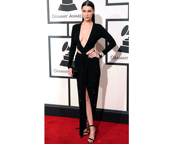 Bella Hadid with body-hugging Alexandre Vauthier number