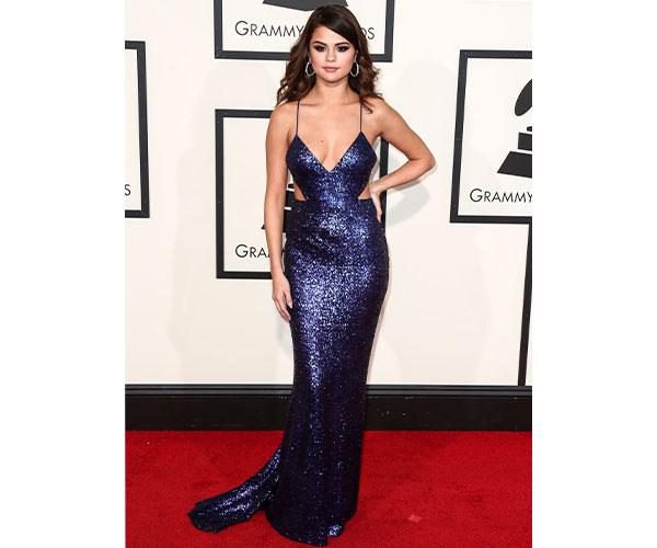 Selena Gomez slayed in Grammy-appropriate Calvin Klein