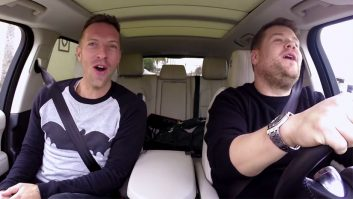VIDEO: Chris Martin Hitches A Ride From James Corden In Carpool Karaoke