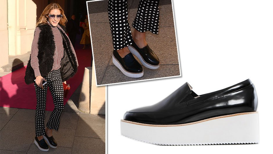 fb4b8540eba3 Olivia Palermo. Olivia Palermo ups her street style game in these Sol Sana  Tabby Wedge Shoes ...