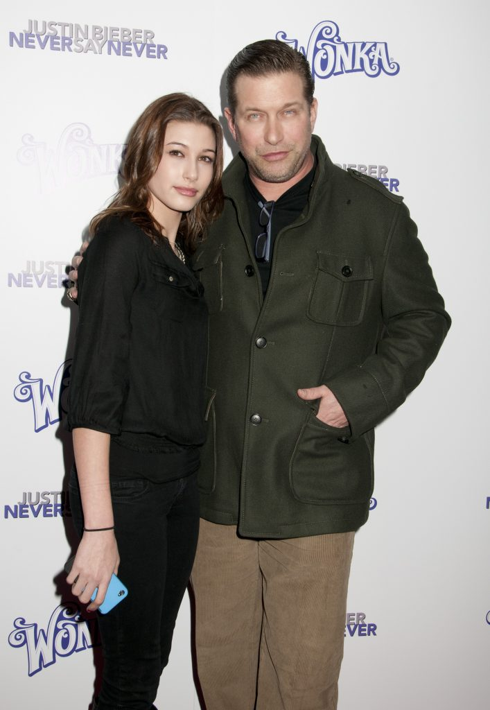 "New York screening of ""Justin Bieber: Never Say Never "" at the Regal E Walk Stadium, NYC. Pictured: Hailey Baldwin and Stephen Baldwin Ref: SPL244987 020211 Picture by: Janet Mayer / Splash News Splash News and Pictures Los Angeles:310-821-2666 New York: 212-619-2666 London: 870-934-2666 photodesk@splashnews.com"