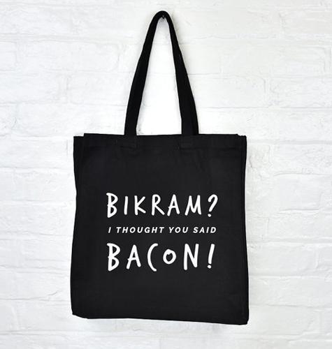 3705ea9456d8 Bikram Bacon Gym Tote Bag Fitness Accessories ( 22.20)