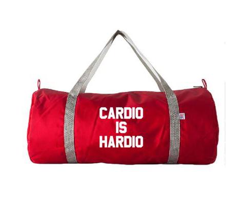 618ce056397f Cardio Is Hardio Gym Bag ( 30)