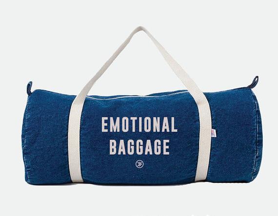 Emotional Baggage 90 S Dark Denim Retro Gym Bag 29