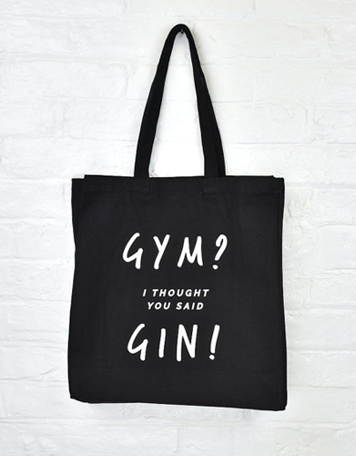 dab9ae182f4d Gym Gin Tote Bag Gym and Tonic Gin Gifts ( 22.20)