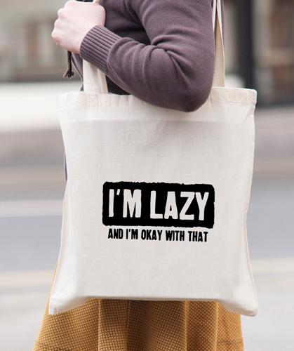 f04e62da612a I m Lazy Gym Tote Bag ( 11.83)