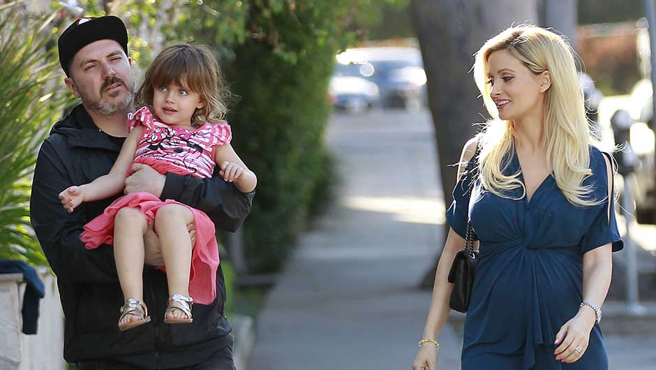 Holly Madison & Pasquale Rotella with their daughter