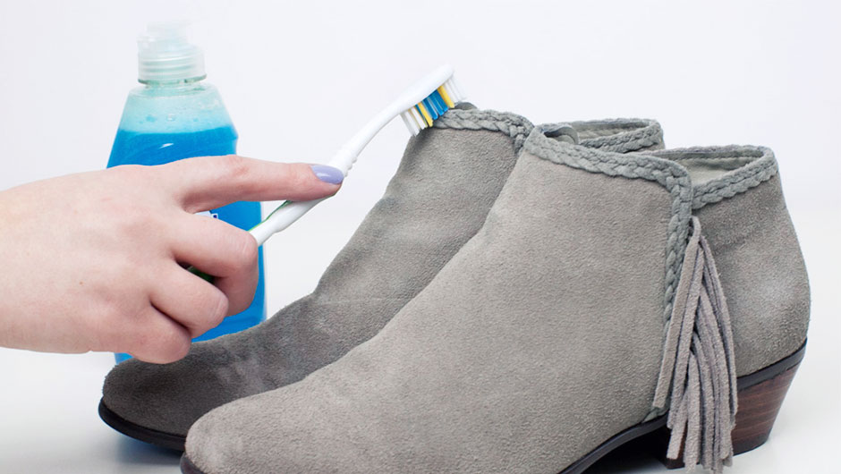 how to get denim stains out of suede shoes