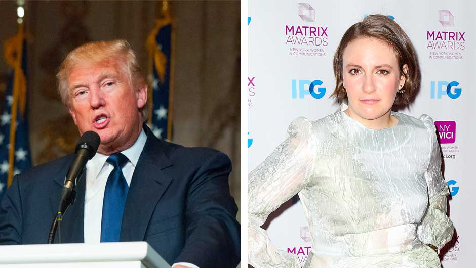 Donald Trump and Lena Dunham Feud