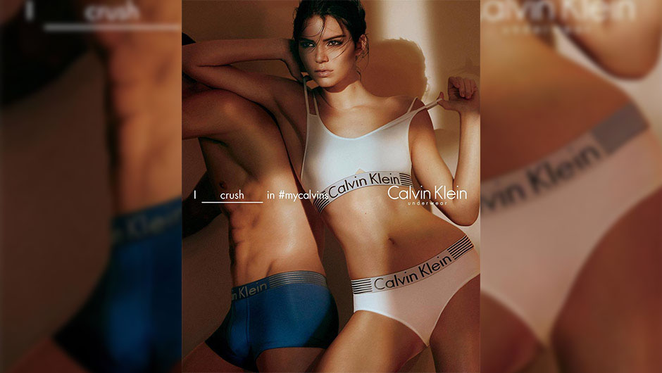 Kendall Jenner Campaigns Calvin Klein