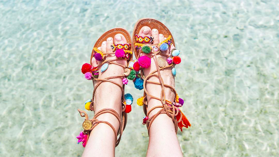 Pom Sandals Are Like Confetti For Your Feet--How Could You Say No To That?