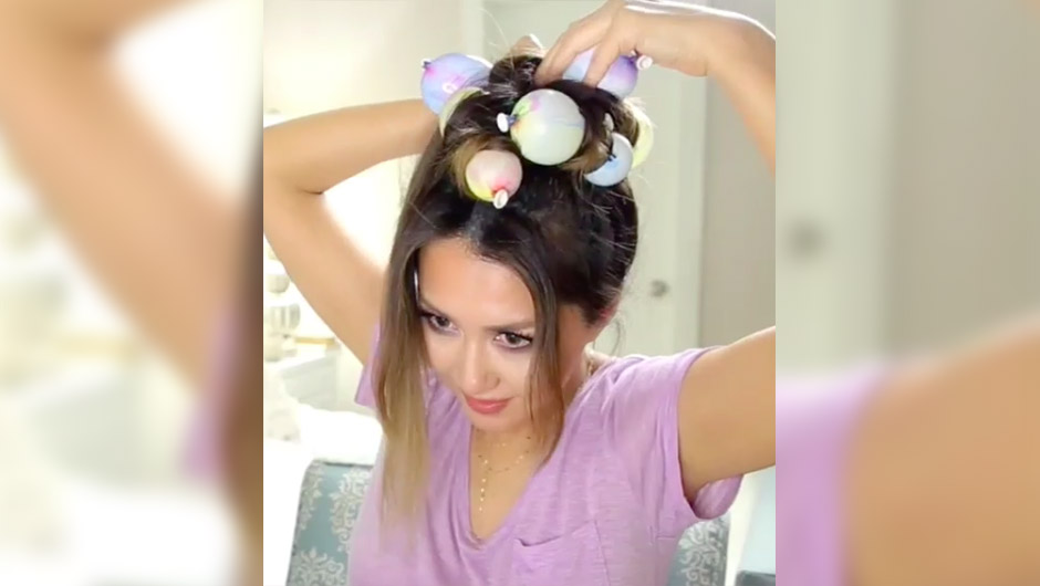 How To Curl Your Hair With Balloons - SHEfinds