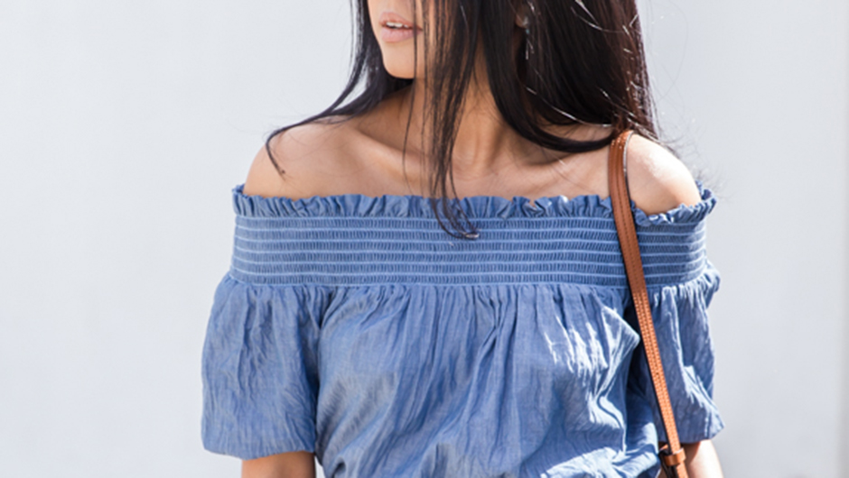 b4f7c379e78f2 Off-the-shoulder tops and dresses are undeniably in for spring–but there  seem to be quite a few questions that come along with wearing them.