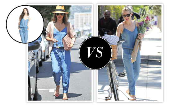 Both Jessica Alba AND Naomi Watts with Chambray Jumpsuit