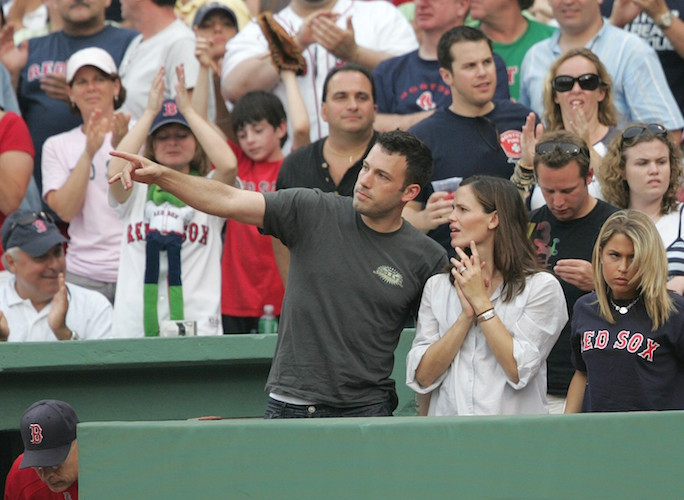 NY Yankees vs Boston Red Sox played at Fenway Park. Ben Affleck and wife Jennifer Garner attend the game against the NY Yankees. They sit in the owners box smiling and singing during the seventh inning stretch. Picture by: Anthony J. Causi Ref: ACNY 010607 N NY POST OUT / NY DAILY NEWS OUT / USA TODAY OUT Splash News and Pictures Los Angeles:310-821-2666 New York: 212-619-2666 London: 207-107-2666 photodesk@splashnews.com www.splashnews.com